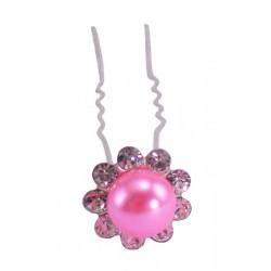 Шпилька цветок жемчужный розовый 20 шт