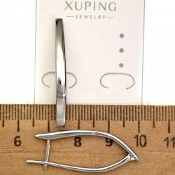 Серьги XG дуга родий 3,5 см М42