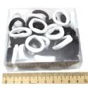 Резинка эластичная черная и белая (1 уп)