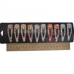 Зажим клубника цветы звезды 4,5 см 2шт М348