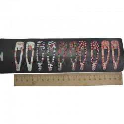 Зажим цветы ягоды 4,5 см 2шт М349