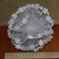 Бант объем кант бабочки точка серебристая ( 2 шт) М123