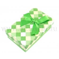 Футляр коробочка для комплекта большая зеленая