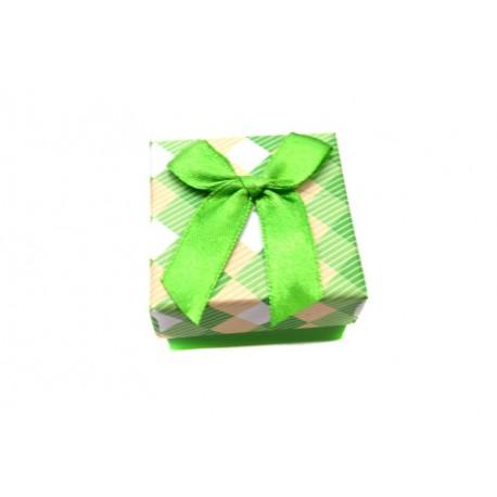 Коробочка для колец квадратная зеленая