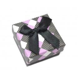 Коробочка для колец квадратная черная