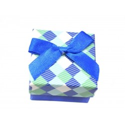 Коробочка для колец квадратная синяя