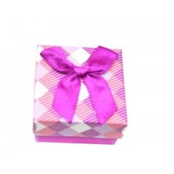 Коробочка для колец квадратная фиолетовая