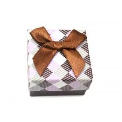Коробочка для колец квадратная коричневая