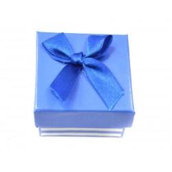 Коробочка для колец квадратная синяя в полоску