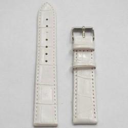 Ремень для часов КРОКО белый 24 мм