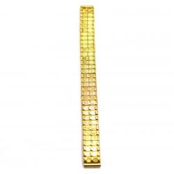 Ремень-браслет для часов желтый, резинка 12 мм