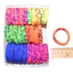 Резинка для волос цветная с рисунком микс