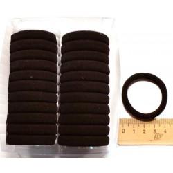 Резинка для волос черная (24 шт.)