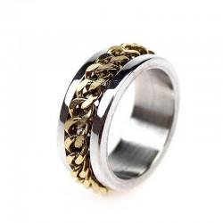 Кольцо с цепочкой золотистого цвета
