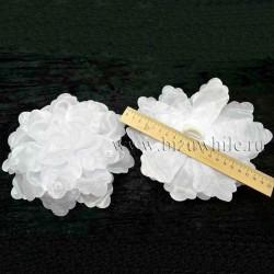 Бант для волос белый 20 см большой IV