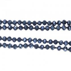 Бусы г.х. цвет темно синий, почти черный