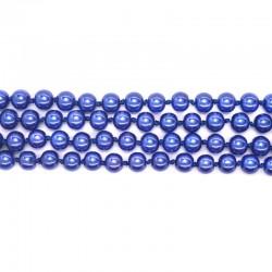 Бусы классические жемчужные синие