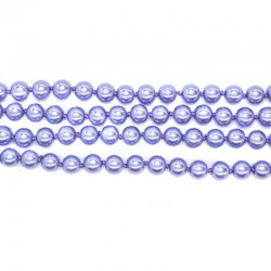 Бусы классические жемчужные светло-фиолетовый