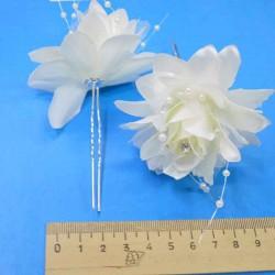 Шпилька для волос цветы (3 шт) цвет айвори