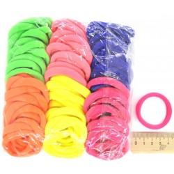 Резинка для волос цветная яркая(1 уп)