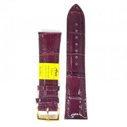 Ремень для часов ахи 24 мм темно-фиолетовый