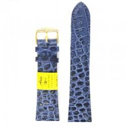 Ремень для часов ахи 24 мм синий