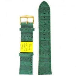 Ремень для часов ахи 22 мм темно-зеленый