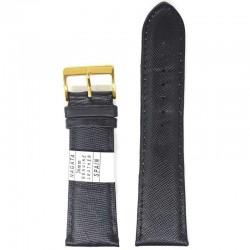 Ремень для часов ахи 26 мм черный змея