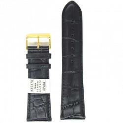 Ремень для часов ахи 26 мм черный крокодил