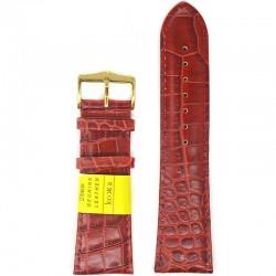 Ремень для часов ахи 26 мм красный