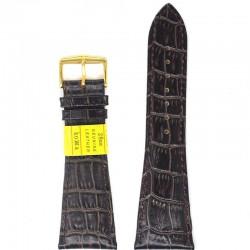 Ремень для часов ахи 28 мм коричневый