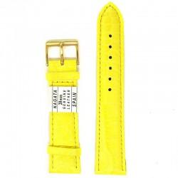 Ремень для часов ахи 20 мм желтый