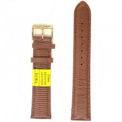 Ремень для часов ахи 20 мм коричневый