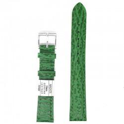 Ремень для часов ахи 16 мм зеленый