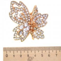 Краб металл бабочка золотистая