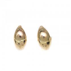 Серьги колечки маленькие золотистые I