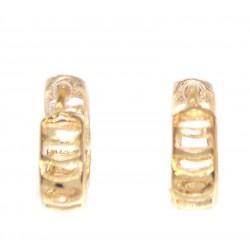Серьги колечки маленькие золотистые II
