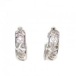 Серьги колечки маленькие серебристые III