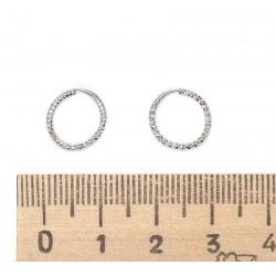 Серьги колечки маленькие серебристые IV