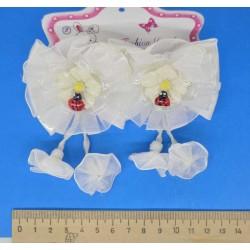 Резинка с б коровкой спиральки белые (2 шт)