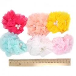 Резинка для волос цветок кружево, микс (2 шт)