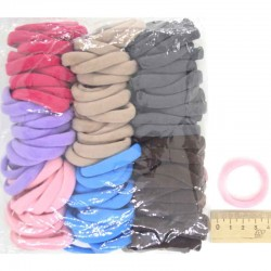 Резинка для волос цветная синяя (90шт)