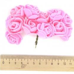 Цветы из фоамирана розовые (12 шт)