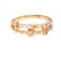 Кольцо лове золотистое