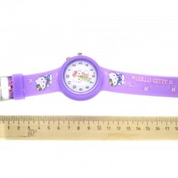Часы фиолетовые киса