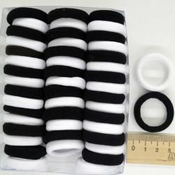 Резинка средняя черно-белая (48 шт)