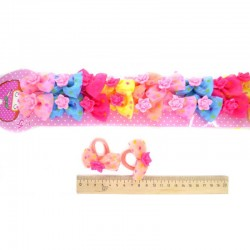 Резинка для волос бантик с розой (1 пара)