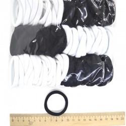 Резинка для волос черно-белая (1 уп)