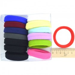 Резинка для волос 5х1,4см ярк (14 шт)