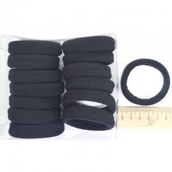 Резинка для волос 5х1,4см чрн (14 шт)